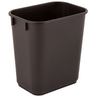 Lavex Janitorial 13 Qt. / 3 Gallon Brown Rectangular Wastebasket / Trash Can