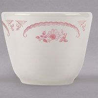 Homer Laughlin 1242 American Rose Red 4.5 oz. Ivory (American White) China Chinese Cup - 36/Case