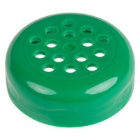 Tablecraft C260TGR Green ABS Plastic Perforated Shaker Top   - 12/Pack
