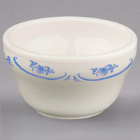 Homer Laughlin 1015035 American Rose Blue 7.25 oz. Ivory (American White) China Bouillon - 36/Case