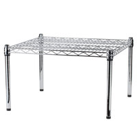 Regency 24 inch x 24 inch x 14 inch Chrome Plated Wire Dunnage Rack - 600 lb. Capacity