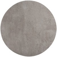 Grosfillex US03VG74 VanGuard 30 inch Concrete Resin Round Indoor Table Top