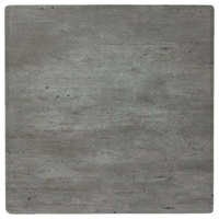 Grosfillex 99525038 24 inch x 24 inch Square Granite Outdoor Molded Melamine Table Top