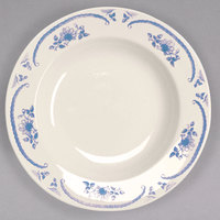 Homer Laughlin 3805035 American Rose Blue 20 oz. Ivory (American White) China Pasta Bowl - 12/Case