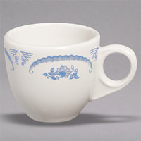 Homer Laughlin 1085035 American Rose Blue 3.5 oz. Ivory (American White) China A.D. Cup - 36/Case