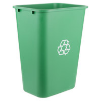 Lavex Janitorial 41 Qt. / 10 Gallon Green Rectangular Recycling Wastebasket / Trash Can