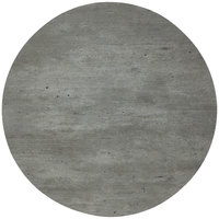 Grosfillex 99832038 30 inch Round Granite Outdoor Molded Melamine Table Top