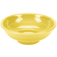 Homer Laughlin 765320 Fiesta Sunflower 2 Qt. Pedestal Serving Bowl - 4/Case