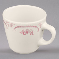 Homer Laughlin 1072 American Rose Red 6.75 oz. Ivory (American White) China Virginia Cup - 36/Case