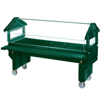 Carlisle 660808 Forest Green 6' Six Star Open Base Portable Youth Food / Salad Bar