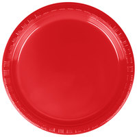 "Creative Converting 28103111B 7"" Classic Red Plastic Plate - 600/Case"