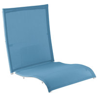 Grosfillex US532194 Belize Sky Blue Replacement Sling with White Frame Attachment