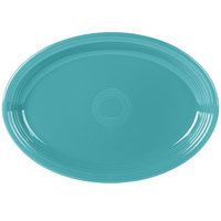 Fiesta Tableware from Steelite International HL968107 Turquoise 19 1/4 inch x 13 1/2 inch Oval Extra Large China Serving Platter - 2/Case