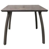 Grosfillex US36C599 Sunset 36 inch x 36 inch Lava / Fusion Bronze Square Table with Umbrella Hole