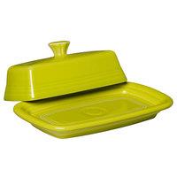 Homer Laughlin 1431332 Fiesta Lemongrass Extra Large China Covered Butter Dish - 4/Case