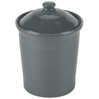 Homer Laughlin 571339 Fiesta Slate 1 Qt. China Small Canister with Cover - 2/Case