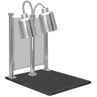 Hanson Heat Lamps DLM/700/CC/ST/SS Dual Bulb 20 inch x 24 inch Stainless Steel Carving Station with Sneeze Guard