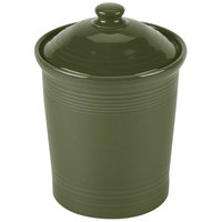 Homer Laughlin 571340 Fiesta Sage 1 Qt. China Small Canister with Cover - 2/Case