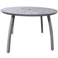 Grosfillex US42C289 Sunset 42 inch Concrete / Platinum Gray Round Table with Umbrella Hole