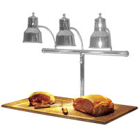 Hanson Heat Lamps 3LM-BB-SS Triple Bulb 20 inch x 36 inch Stainless Steel Carving Station with Synthetic Granite Base