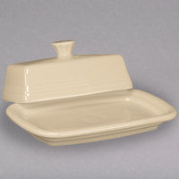 Homer Laughlin 1431330 Fiesta Ivory Extra Large China Covered Butter Dish - 4/Case