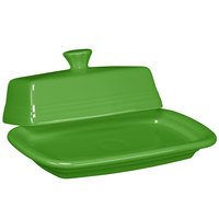 Homer Laughlin 1431324 Fiesta Shamrock Extra Large China Covered Butter Dish - 4/Case