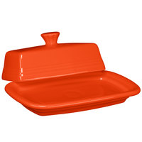 Homer Laughlin 1431338 Fiesta Poppy Extra Large China Covered Butter Dish - 4/Case