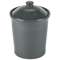 Homer Laughlin 573339 Fiesta Slate 3 Qt. China Large Canister with Cover - 2/Case