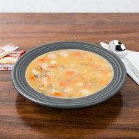 Homer Laughlin 451339 Fiesta Slate 13.25 oz. China Rim Soup Bowl - 12/Case