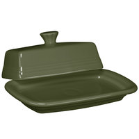 Homer Laughlin 1431340 Fiesta Sage Extra Large China Covered Butter Dish - 4/Case