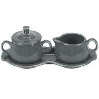 Fiesta Tableware from Steelite International HL821339 Slate China Sugar and Creamer Tray Set - 4/Case
