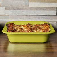 Homer Laughlin 963332 Fiesta Lemongrass 13 inch x 9 inch China Rectangular Baker - 2/Case