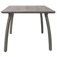 Grosfillex US36C289 Sunset 36 inch x 36 inch Concrete / Platinum Gray Square Table with Umbrella Hole