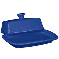 Homer Laughlin 1431337 Fiesta Lapis Extra Large China Covered Butter Dish - 4/Case