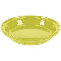 Homer Laughlin 487332 Fiesta Lemongrass 10 1/4 inch China Deep Dish Pie Baker - 4/Case