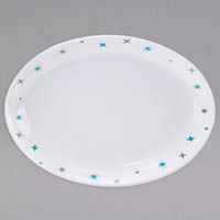 Homer Laughlin 31510029 Pulsar 13 1/8 inch x 10 1/2 inch Bright White Empire Coupe Oval China Platter - 12/Case