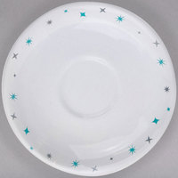 Homer Laughlin 28210029 Pulsar 6 inch Bright White China Boston Saucer - 36/Case