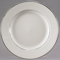 Homer Laughlin 702178 Sterling 10 inch Ivory (American White) China Cavalier Dinner Plate - 12/Case