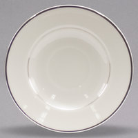 Homer Laughlin 701178 Sterling 5 3/4 inch Ivory (American White) China Cavalier Saucer - 36/Case