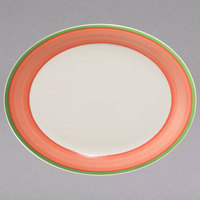 Homer Laughlin 2628083 Toulon 12 1/2 inch China Narrow Rim Oval Platter - 12/Case