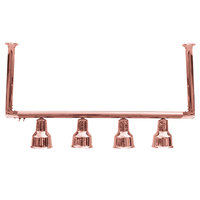 Hanson Heat Lamps 4-CM-BCOP 61 inch Four Bulb Ceiling Mount Food Warmer with Bright Copper Finish - 115/230V