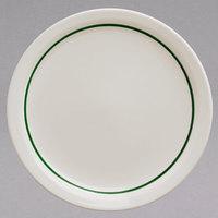 Homer Laughlin 2131430 Green Jade Narrow Rim 7 1/4 inch Ivory (American White) China Plate   - 36/Case
