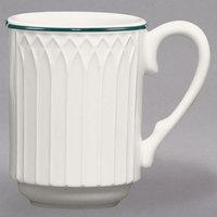 Homer Laughlin 3651430 Green Jade 8 oz. Ivory (American White) Stackable China Mug - 36/Case