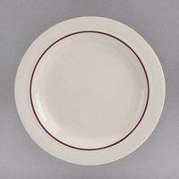 Homer Laughlin 3971492 Maroon Jade 19.5 oz. Ivory (American White) China Pasta Bowl - 12/Case