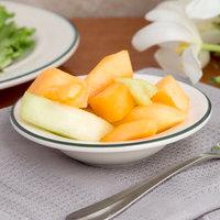 Homer Laughlin 6001430 Green Jade 2.25 oz. Ivory (American White) China Fruit Dish - 36/Case