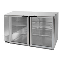 Beverage-Air BB58HC-1-G-S 58 inch Stainless Steel Glass Door Back Bar Refrigerator