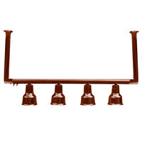 Hanson Heat Lamps 4-CM-SC 61 inch Four Bulb Ceiling Mount Food Warmer with Smoked Copper Finish - 115/230V