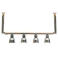 Hanson Heat Lamps 4-CM-CH 61 inch Four Bulb Ceiling Mount Food Warmer with Chrome Finish - 115/230V