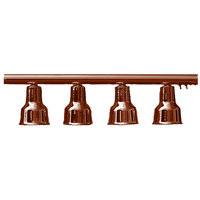 Hanson Heat Lamps 4-LB-SC 61 inch Four Bulb Hanging Bar Food Warmer with Smoked Copper Finish - 115/230V