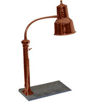 Hanson Heat Lamps PSET-16-SC Single Bulb Freestanding Heat Lamp with 11 inch x 18 inch Solid Base and Smoked Copper Finish - 115V